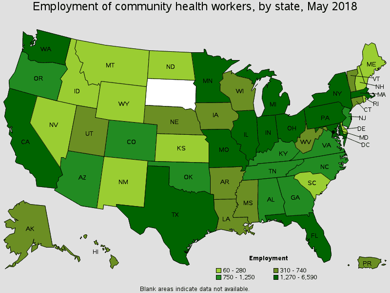 CHW jobs by state