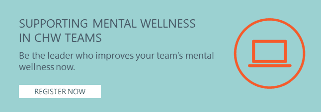 CHWTraining Presentation: supporting mental wellness in community teams